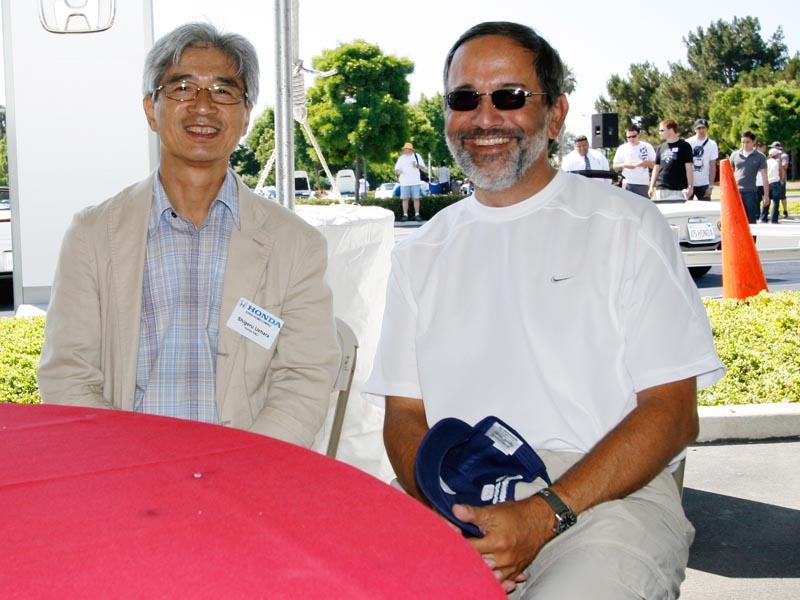 Meeting Shigeru Uehara.