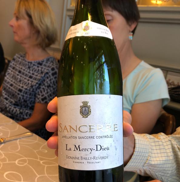 White wine at dinner