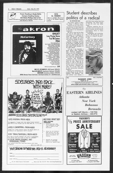 Daily Trojan, Vol. 61, No. 127, May 20, 1970
