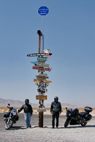 mojave desert signpost, ford montgomery, walt stinson