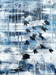 """Ballad of Conspiracy"" (acrylic) by Deena King"
