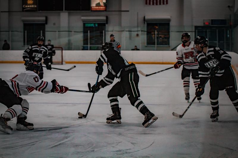 Holy Family Boys Varsity Hockey vs. Elk River, 12/27/19