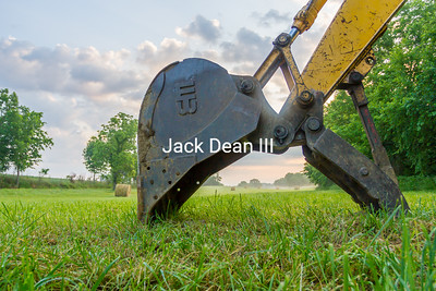 Backhoe On The Farm
