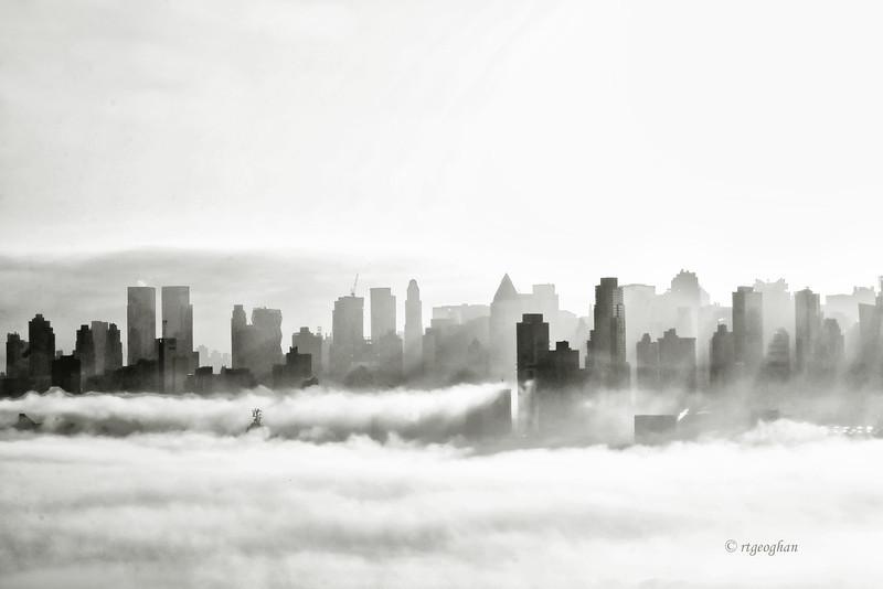 NY Skyline - Morning Fog.