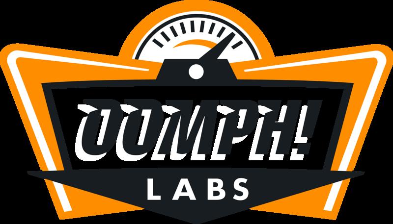 Oomph Labs logo black white orange.png