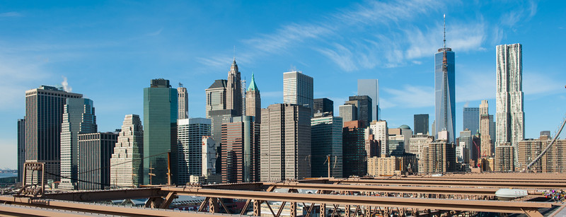 Lower Manhattan viewed from Brooklyn Bridge
