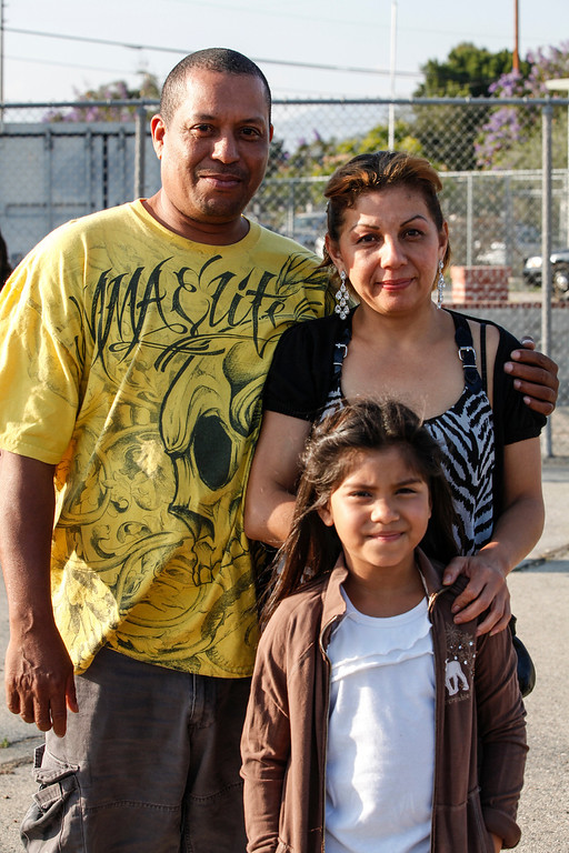 . Parents Reynaldo Salgado and Claudia Canales want their daughter, Estefanie Gabriela Canales (not shown) to know how happy they are she is graduating, John H Francis Polytechnic High School, Sun Valley, Calif., June 7, 2013. Sister\'s name withheld. Photo: Lynn Levitt.