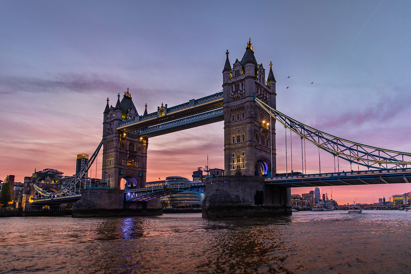 Tower Bridge. I was only in town for two days, so I was so grateful for this sunset.
