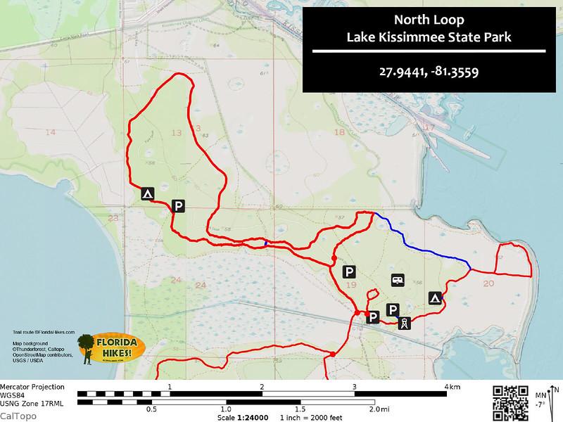 Lake Kissimmee North Loop Trail Map