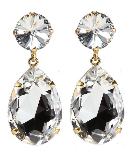 Perfect Drop Earrings / Crystal