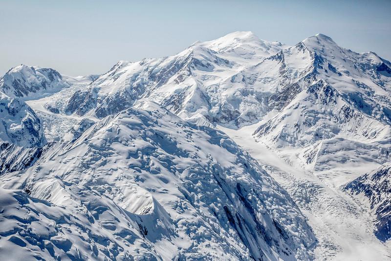 Aerial view of Mt. McKinley south peak, 20,322 ft
