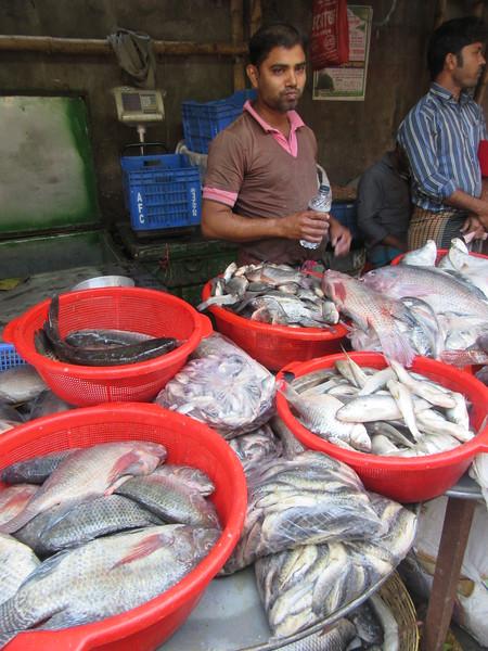 039_Dhaka. Rail Tracks Activities. Fish Market.JPG