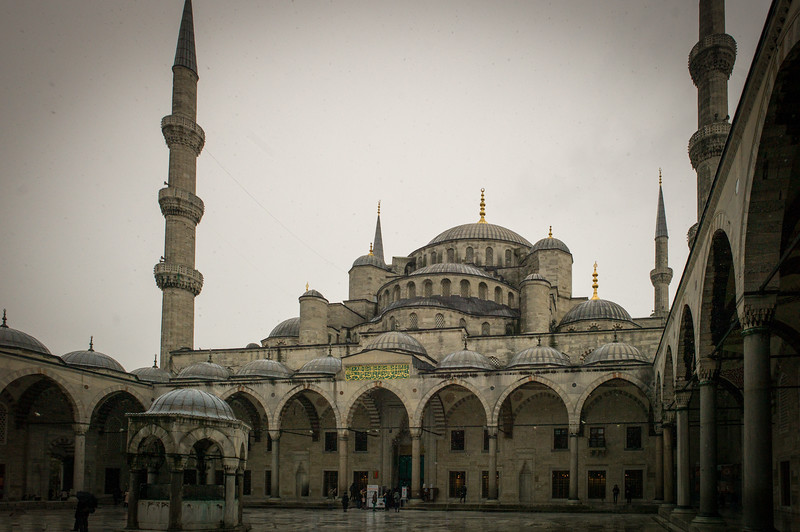Blue Mosque forecourt fountain