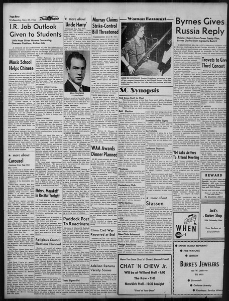 Daily Trojan, Vol. 37, No. 138, May 29, 1946