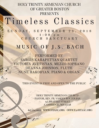 """Timeless Classics - The Music of J.S. Bach,"" September 23, 2018"