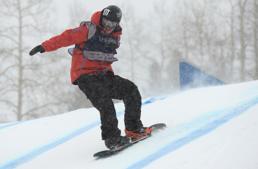 . Emil Ulsletten of Norway is in action during the men\'s slope style final of the Burton U.S. Open. Vail, Colorado. March 7. 2014. (Photo by Hyoung Chang/The Denver Post)