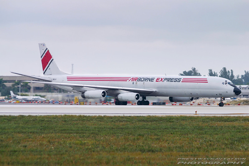 N811AX. Douglas DC-8-63(F). Airborne Express. Miami. 081202.