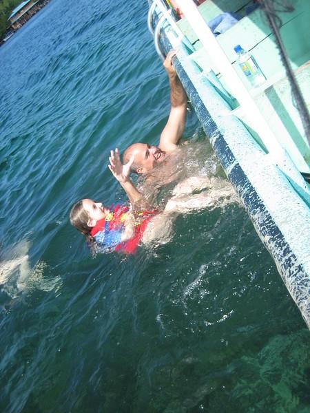 2006-02-21-0030-Thompson Family Adventures trip to Panama with Hahns-Day 4-Bocas del Toro, Salt Creek-Elaine-Ivan.JPG