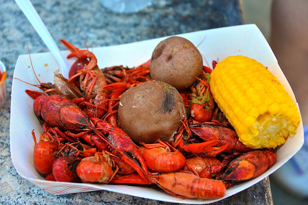 A one pound crawfish dinner being served during the Crawfish Festival at Clinton Square in Syracuse, New York on Saturday, May 4, 2013.
