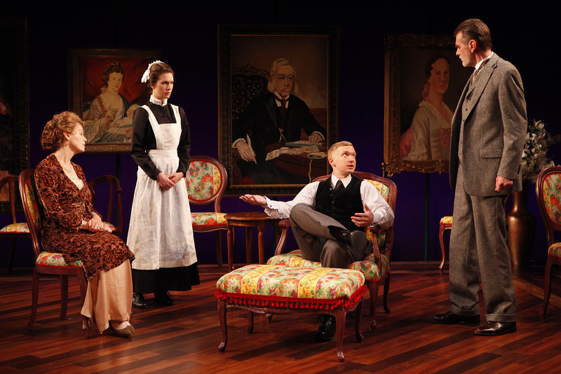 Kristin Griffith, Janie Brookshire, Roderick Hill and Graeme Malcolm in MARY BROOME by Allan Monkhouse  Photo: Carol Rosegg Photography