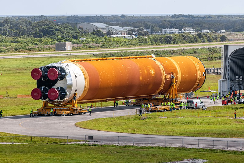 Now begins the trek to the Vehicle Assembly Building where it will be prepared for final integration, testing, and launch of the Artemis 1 mission.