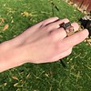 .38ctw Antique Diamond and Ruby Buckle Ring 11