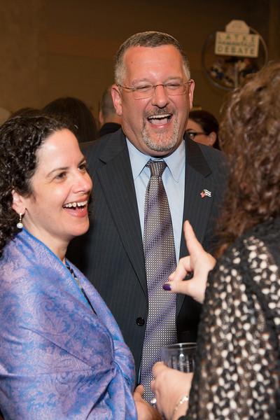 Rebekah and Rabbi Greg Harris -- Tour de Rudolph -- Retirement tribute for Rabbi Bill Rudolph, Congregation Beth El, Bethesda, MD, May 17, 2015