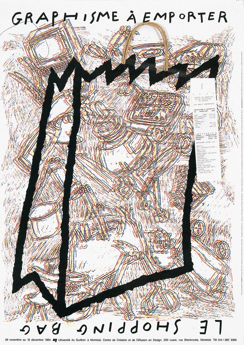 1984 - Exposition - Graphisme à emporter le shopping bag ©Frédéric Metz