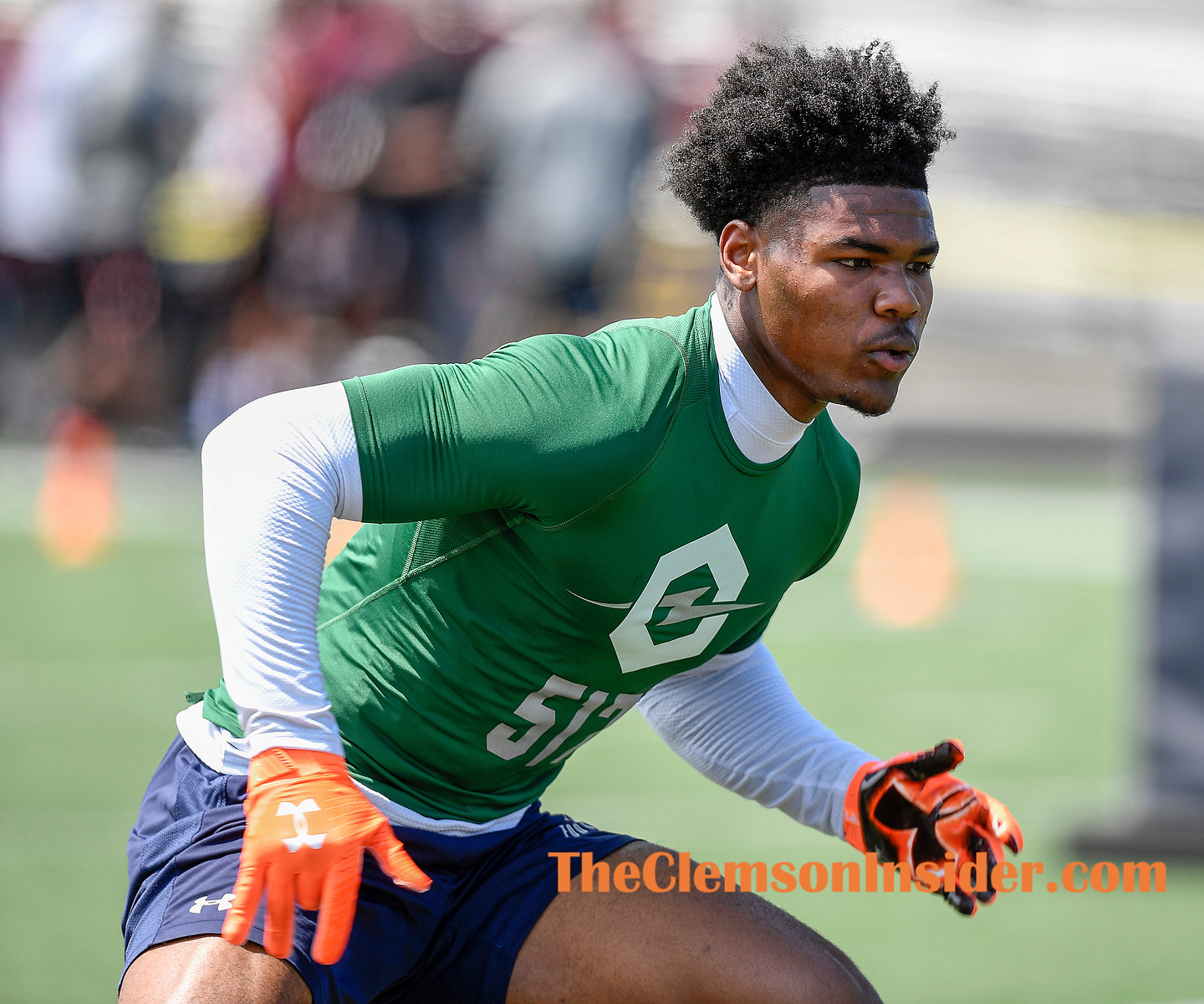Linebacker Trenton Simpson at The Opening Regional Charlotte Sunday, April 28, 2019. Bart Boatwright/The Clemson Insider