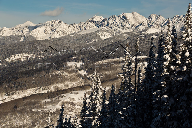 The Gore Range as seen from Vail Mtn, CO