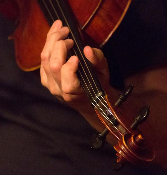 Sophia's hand playing violin