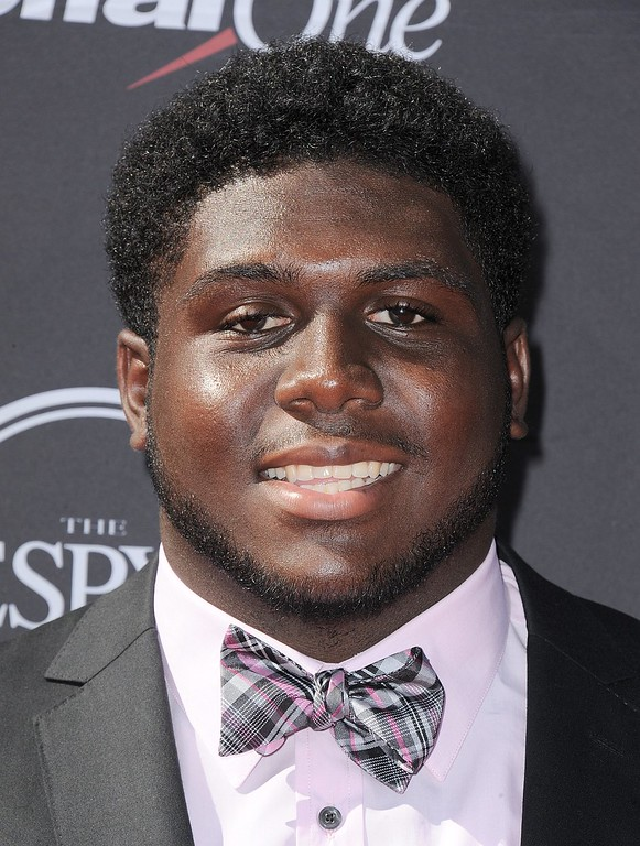 . Tennessee Titans draft pick Chance Warmack arrives at the ESPY Awards on Wednesday, July 17, 2013, at Nokia Theater in Los Angeles. (Photo by Jordan Strauss/Invision/AP)