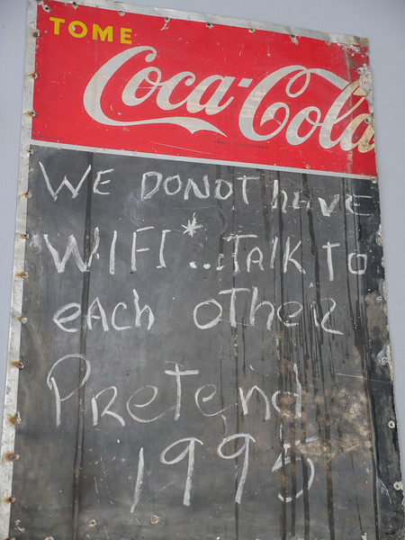 No Wi-Fi at Lamparilla Tapas & Cervezas, Old Havana, Cuba, June 11, 2016.
