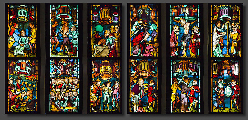 Christusfenster I, Zeile 5 (lu) bis 8 (ro)