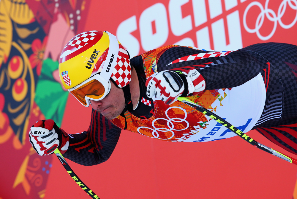 . Ivica Kostelic of Croatia competes during the Alpine Skiing Men\'s Super Combined Downhill on day 7 of the Sochi 2014 Winter Olympics at Rosa Khutor Alpine Center on February 14, 2014 in Sochi, Russia.  (Photo by Alexander Hassenstein/Getty Images)
