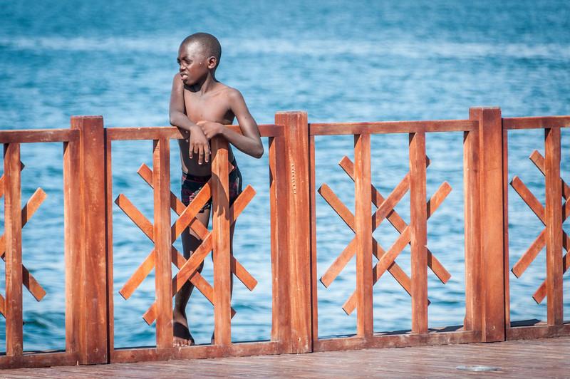 A child in Lobito, Angola