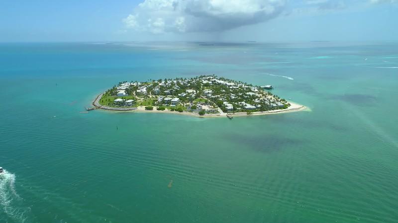 Aerial video Sunset Island Key West Florida 4k 24p