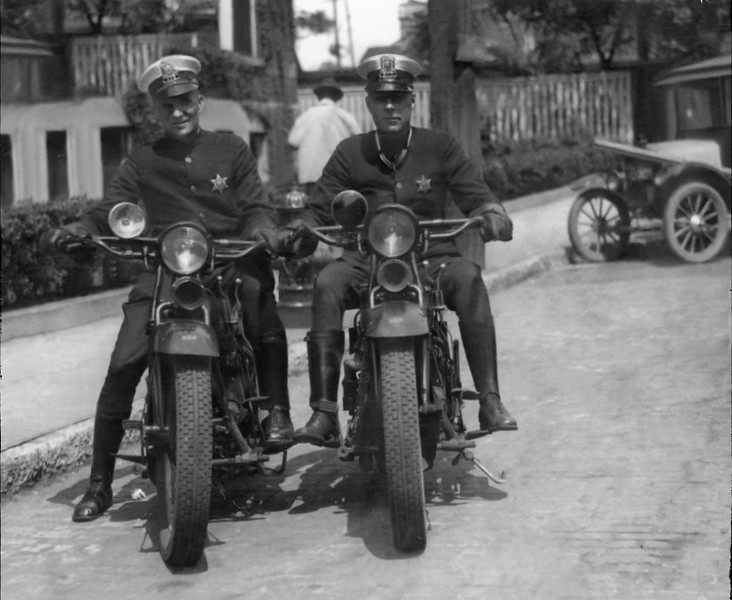 L-R Clarence Pig Iron Griffin and Pinky C Davis about 1928