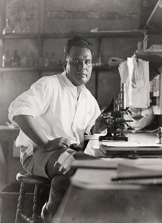Nauruan doctor, c. 1941. State Library of Queensland, 27224 Nauru Island Photograph Album.