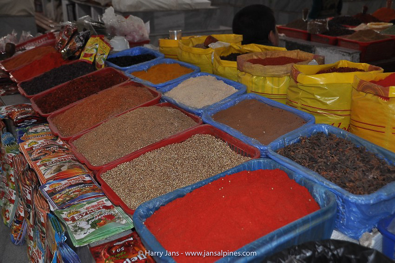 herbs and spices at Samarkand market