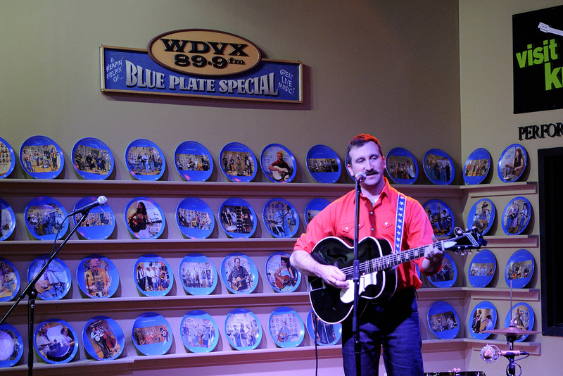 Matt Campbell performs during the WDVX Blue Plate Special concert series at the Visit Knoxville Visitor's Center in Knoxville, TN on Tuesday, December 16, 2014. Copyright 2014 Jason Barnette