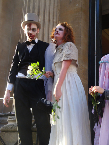 Which was useful, as there were several zombie weddings, when we passed Bristol's Registry Office.