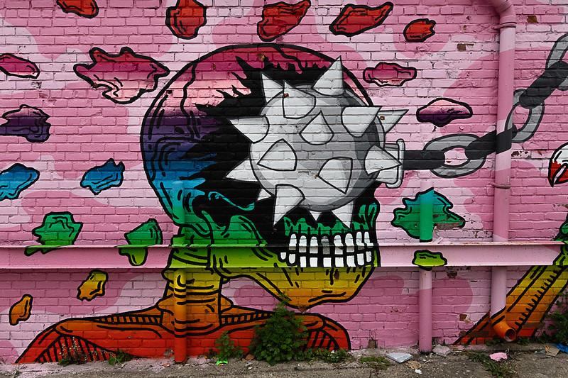 Eastern Market Mural: Skeleton