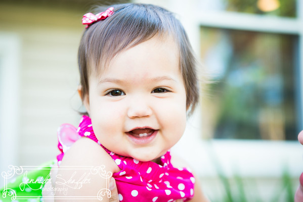 Olivia 1 Year Session Highlights