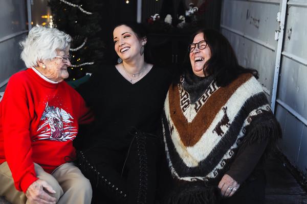 Chelsea, Mom, and Grandma