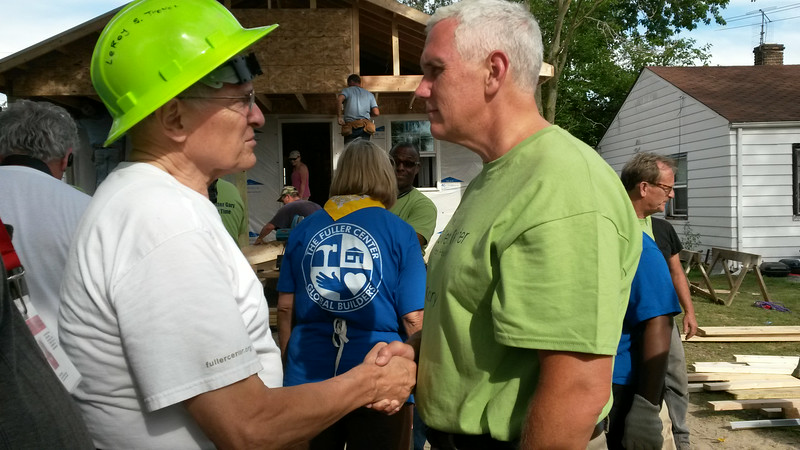 Leroy Troyer, Indiana Gov. Mike Pence