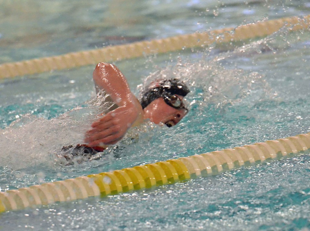 . Paul DiCicco - The News-Herald Hawken\'s Claire Pophal wins 200 free Jan. 20 during the CVC meet.