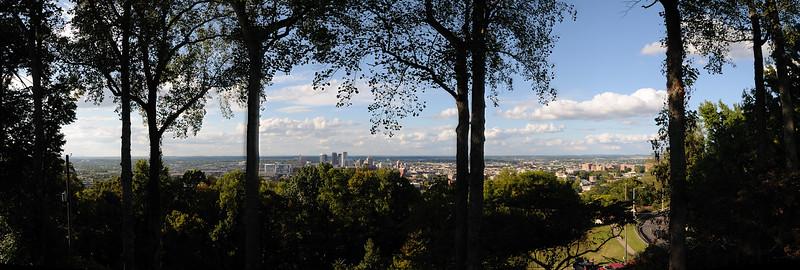 . . . overlooking Birmingham.