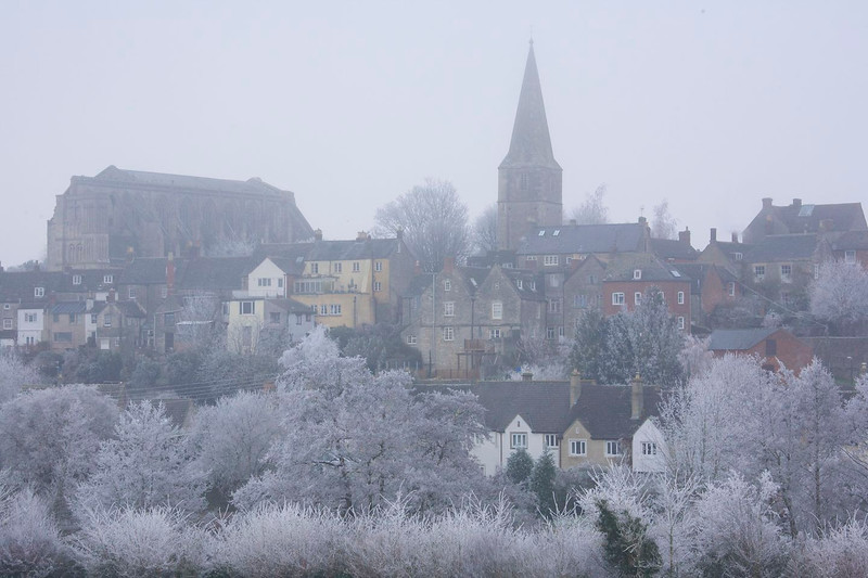 Malmesbury, Wiltshire on a very cold day