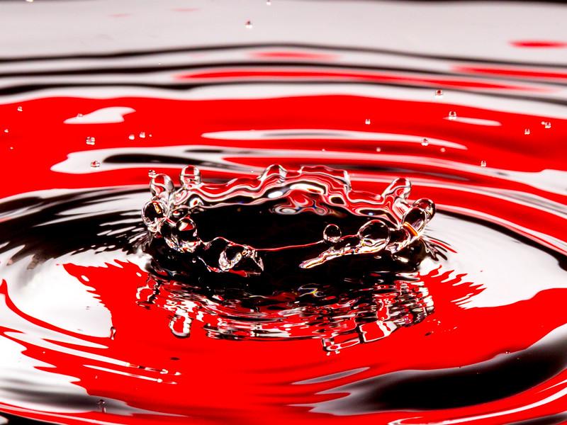 Red and White Splash